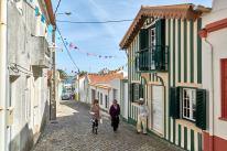 Gestreifte Häuser in Aveiro