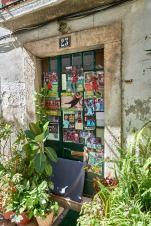 Fenster Alfama Gasse Lissabon