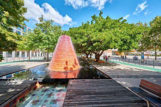 Brunnen Expo Gelände Lissabon