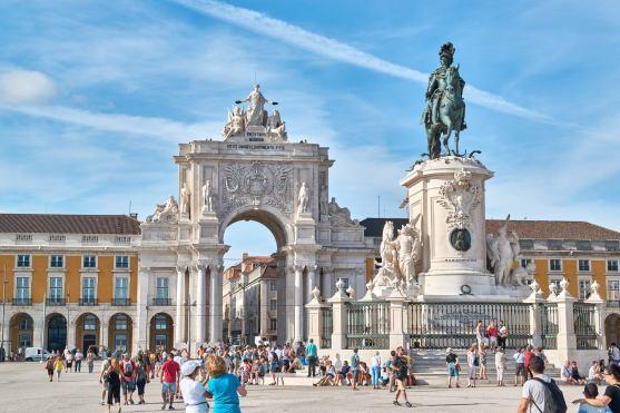 Praca do Comercio in Lissabon