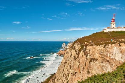 Cabo da Roca Kliff Meer Felsen Leuchtturm