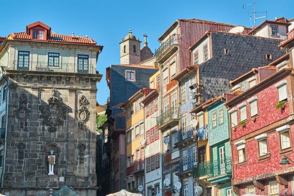 Portos Altstadt Bunte Fassaden