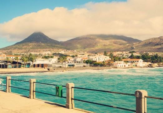 Porto Santo Blick auf Ort