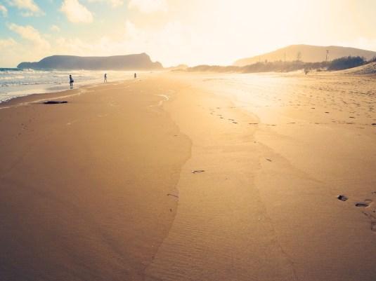 Porto Santo Strand Sonnenuntergang