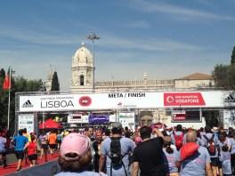 Lissabon Halbmarathon Zieleinlauf