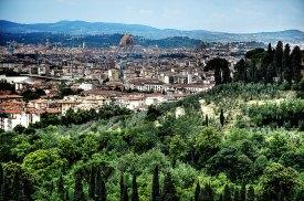 Panoramablick auf Florenz vom Hotel Il Salviatino