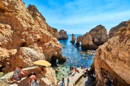 Ponta da Piedade Paddler Touristen Algarve