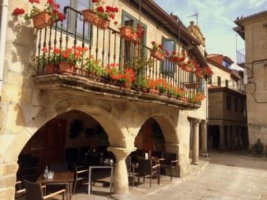 Pontevedra Galicien Balkon Restaurant