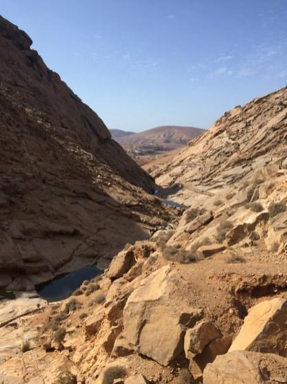 Felsen auf Wanderung Palmental Fuerteventura