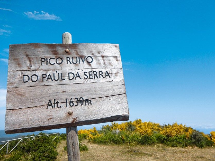 Gipfelschild Pico Ruivo