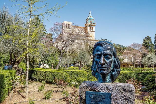 Büste von Chopin in Valldemossa