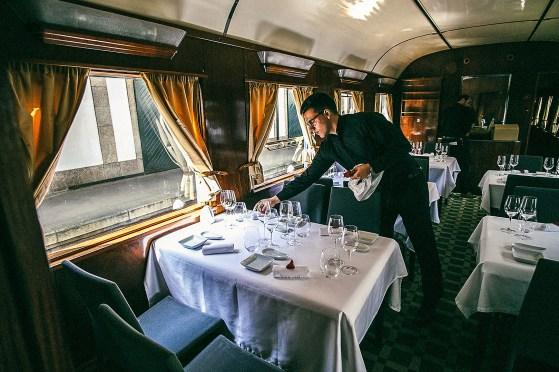 Feine Speisen im Presidential Train