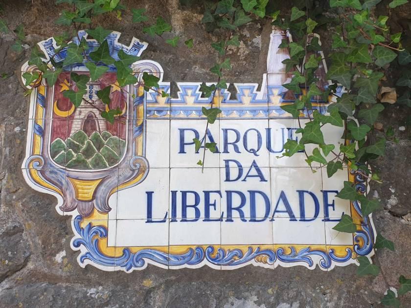 Eingangsschild Botanischer Garten Sintra