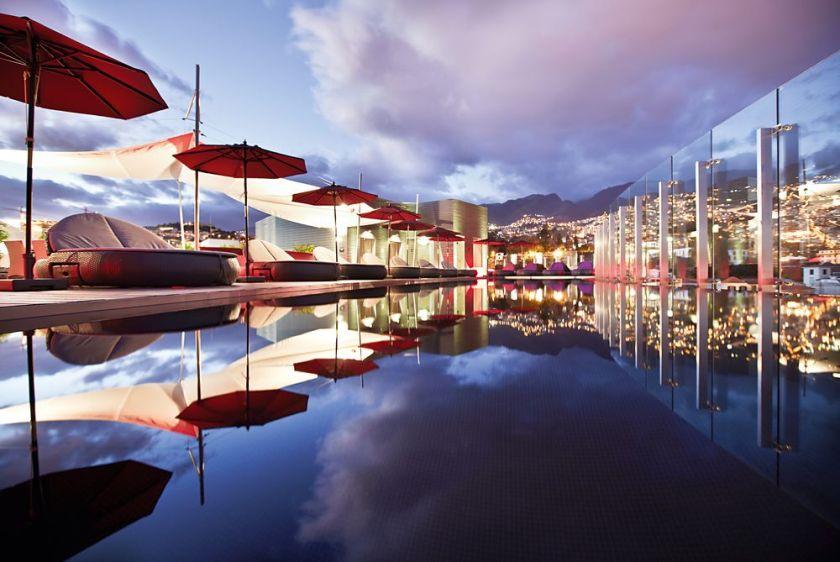Spektakuläre Dachterrasse Hotel The Vine Madeira