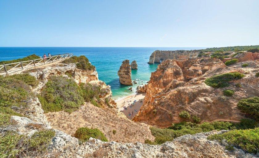 Blick auf Praia da Marinha