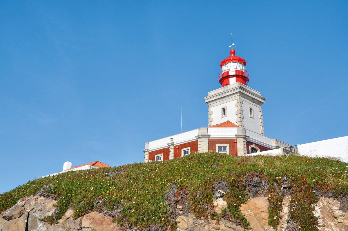 Lissabons Küsten Cabo Da Roca Leuchtturm