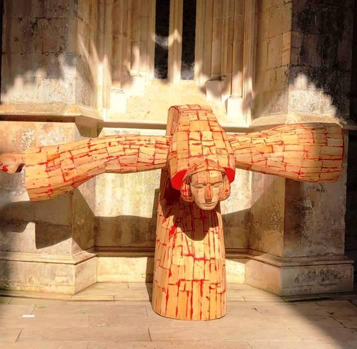 Mittelportugal Kloster Batalha Skulptur