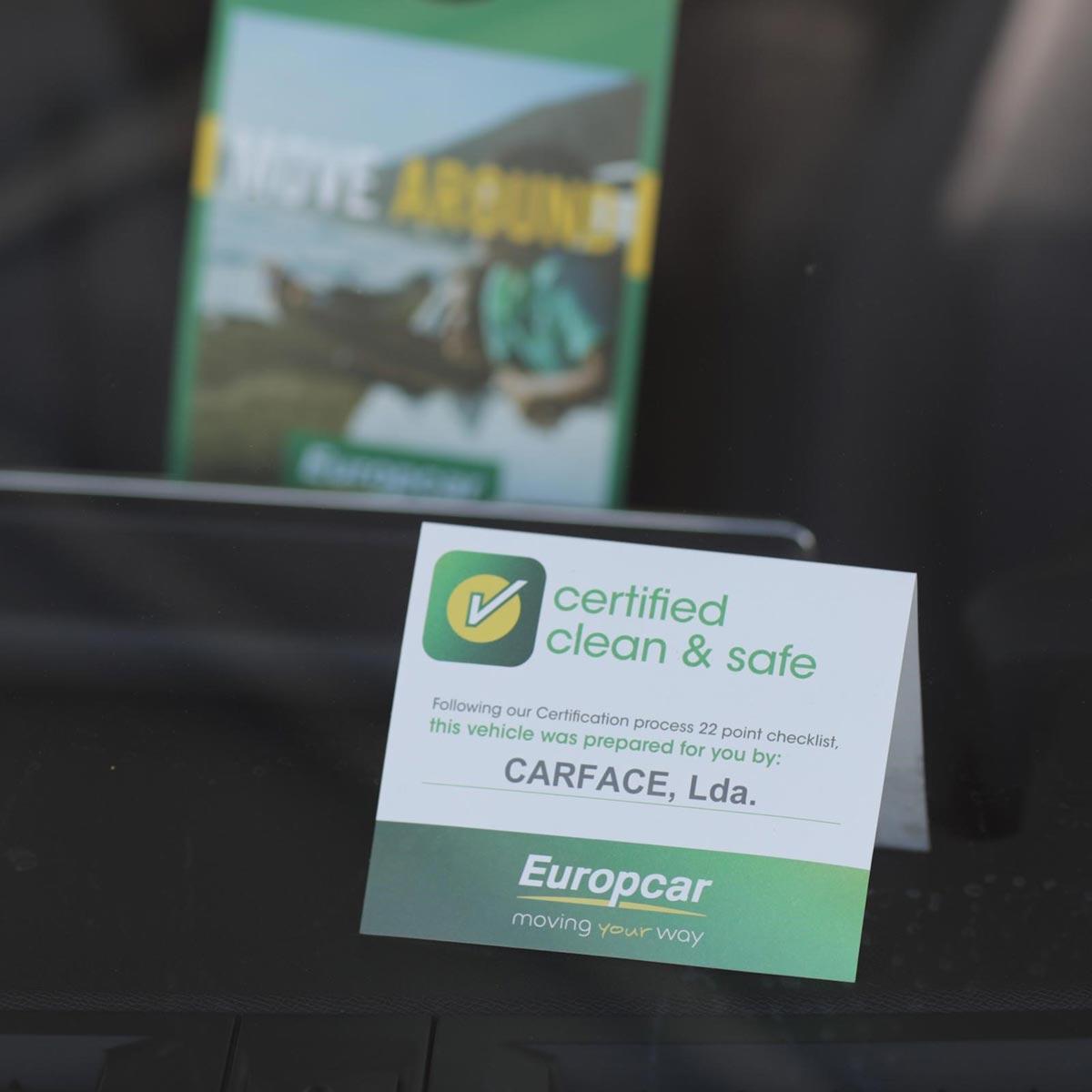 Europcar Abholung Mietwagen Clean & Safe