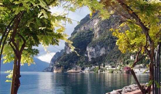 Italien Blick auf Gardasee Rad-Tour