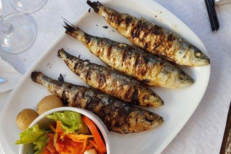 Typisch portugiesische Spezialität Sardinen