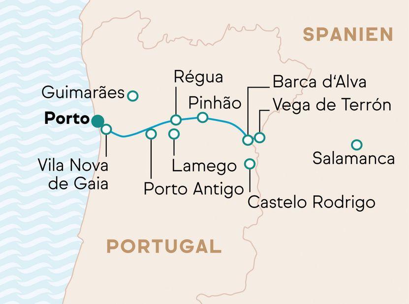 Genuss & Kultur auf dem Douro AROSA Reiseverlauf