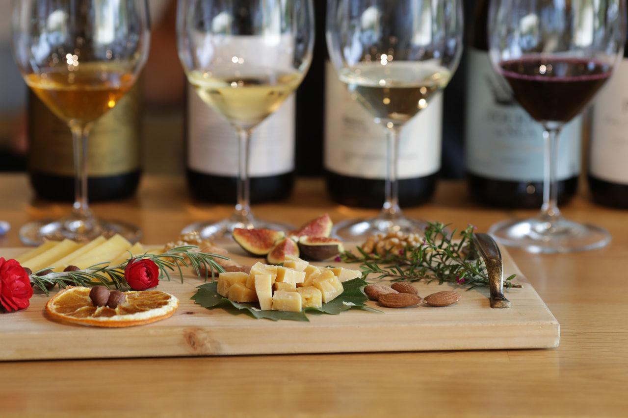 Wein Degustation mit Appetithäppchen