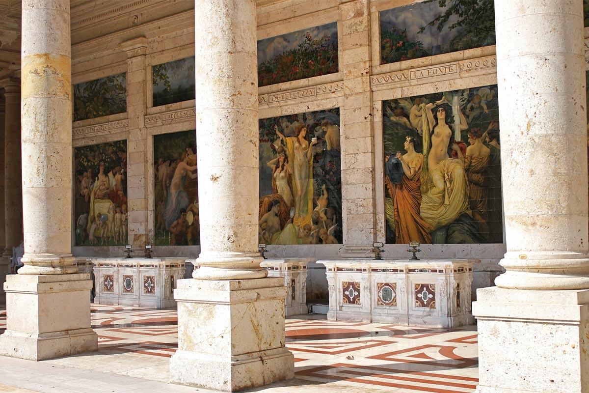 Terme Tettuccio - Fresken vom Maler Basilio Cascella
