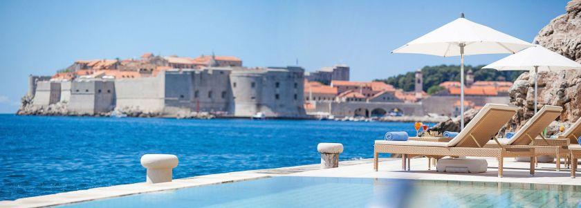 Dubrovnik Grand Hotel Villa Argentina Pool Ausblick