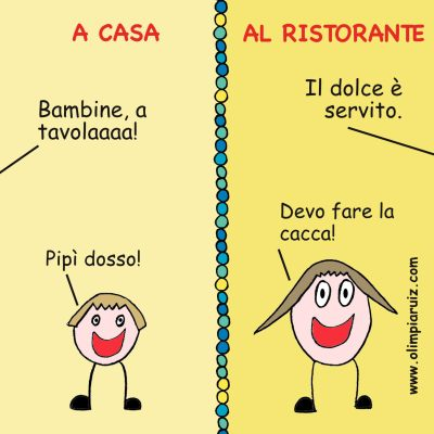 A casa e al ristorante - Vignette Olimpia Ruiz