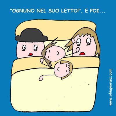 Vignette sulla vita in famiglia - Ognuno nel suo letto