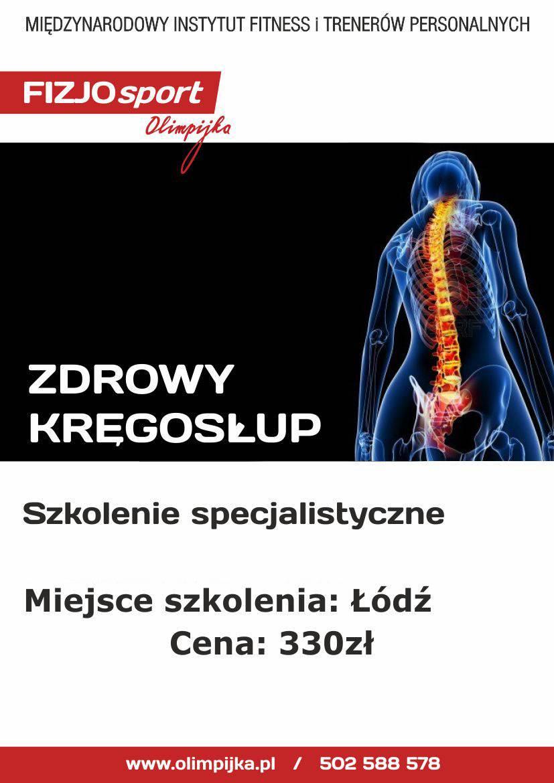Zdrowy Kręgosłup 13.03.2021r.