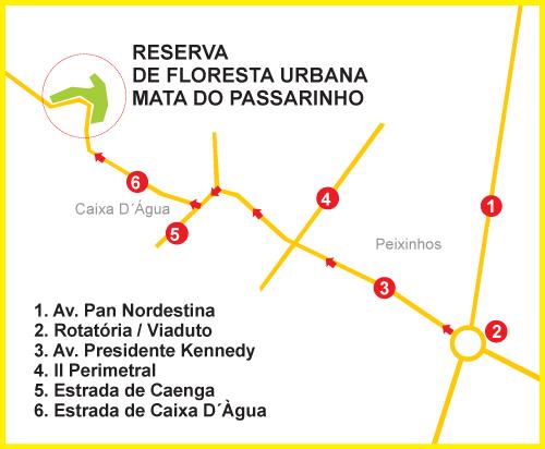 Mapa de Localização - Mata do Passarinho