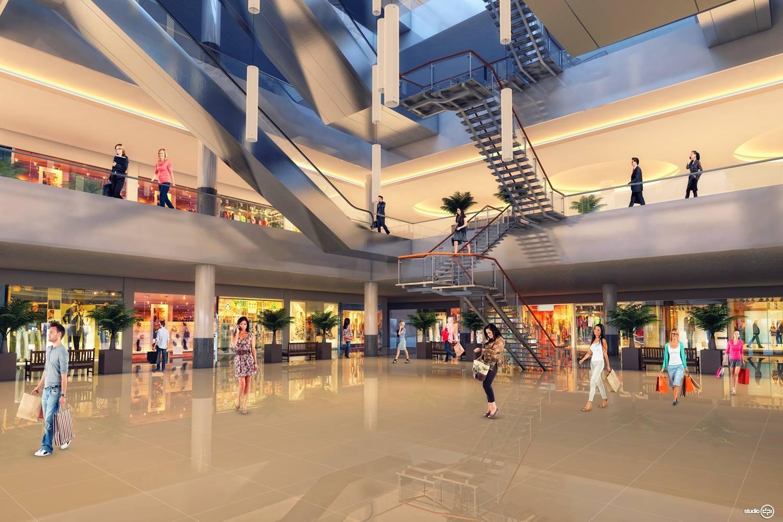 Simulação do projeto do Patteo Olinda Shopping