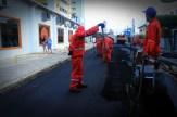 A Rua Otaviano Pessoa Monteiro, em Casa Caiada, já começou a ser recapeada. Foto: Monique Veloso/Pref.Olinda