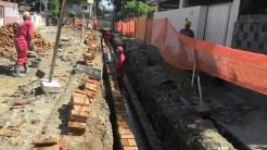 Drenagem sendo feita na Rua Amazonas. Foto: Secretaria de Obras