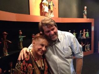 Tereza Costa Rêgo, diretora do museu e artista plástica, com o prefeito Renildo Calheiros. Foto: Rodrigo Barradas/Pref.Olinda
