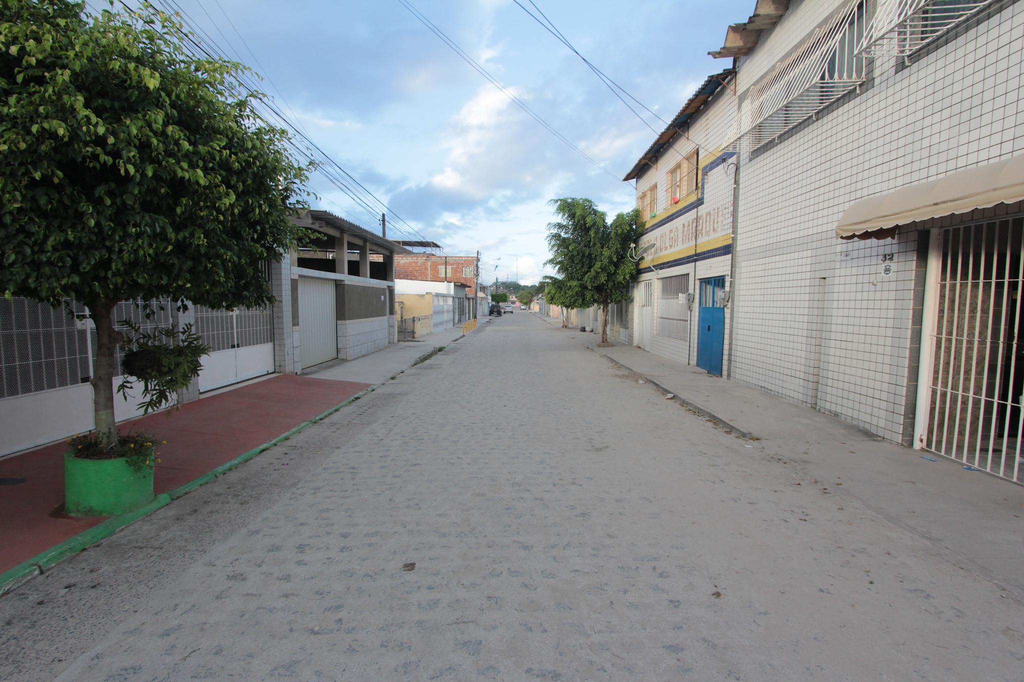 Rua Parnaíba, em Jardim Brasil. Foto: Luiz Fabiano/Pref.Olinda
