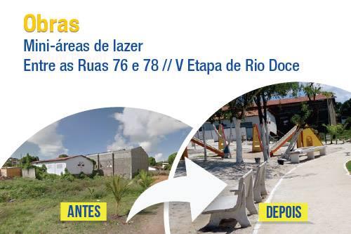 Rio Doce recebe mais uma miniárea de lazer - Prefeitura de