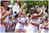 As Conxitas, grupo percussivo formado só por mulheres, animando os foliões nas ladeiras de Olinda no Carnaval de 2013. Foto: Jan Ribeiro/Pref.Olinda
