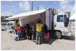 Unidade móvel oferece exames de mamografia durante o projeto Olinda em Ação. Foto: Luiz Fabiano/Pref.Olinda
