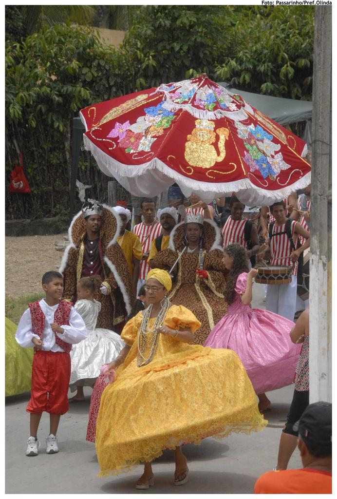Maracatu Leão Coroado. Foto: Passarinho/Pref.Olinda