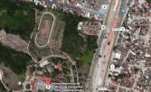 Área onde ficará a Escola Técnica, entre o 7ºGAC e a Escola Argentina Castello Branco. Foto: Google Maps