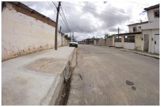 Pavimentação da Rua 26, na V Etapa de Rio Doce. Foto: Luiz Fabiano/Pref.Olinda