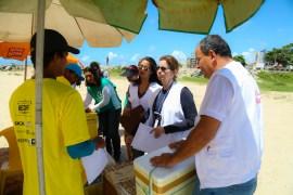 Agentes de saúde distribuíram materiais e conscientizaram a população
