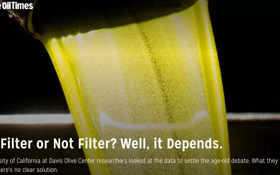 Filtrer ou ne pas filtrer l'huile d'olive ?