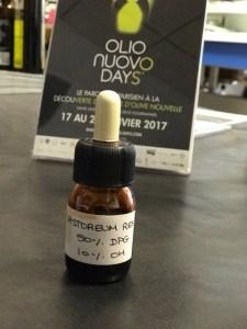 Castoreum Res, l'une des essences utilisées pour recréer l'un des accords olive pour les prochains ateliers de dégustation Olio Nuovo days.