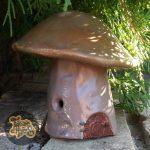 Warm Grey Mushroom Faerie House