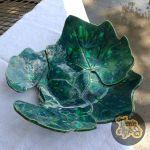 Turquoise Squash Leaves Bowl