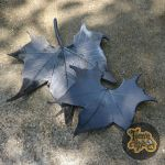 Black Sycamore Leaves Dish Set