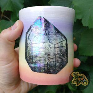 Shimmer Crystal Rainbow Tumbler